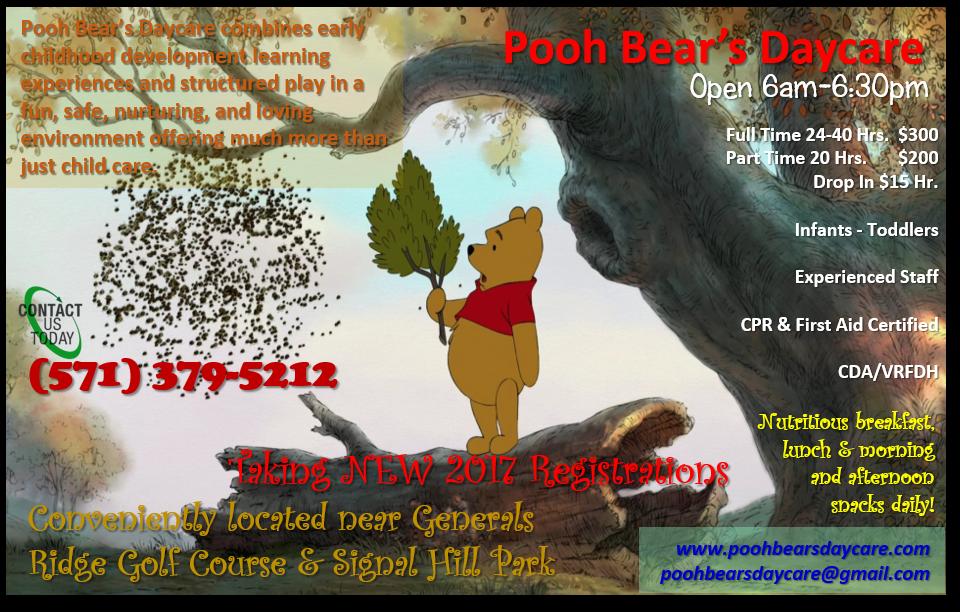 Pooh Bear's Daycare Blog Post